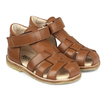 ANGULUS Begyndersandal Normal/Bred Pasform - Cognac