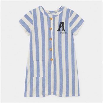 Bobo Choses Blue Striped Playsuit Dance
