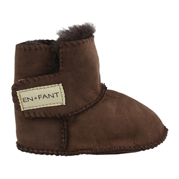 En Fant Sheepskin Bottee - Brown