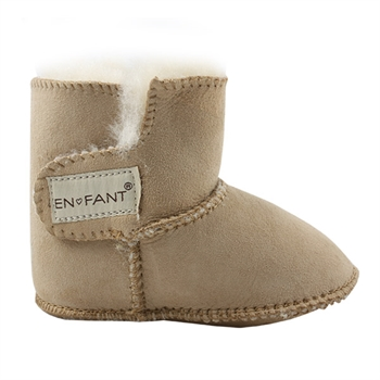 En Fant Sheepskin Bottee - Chestnut