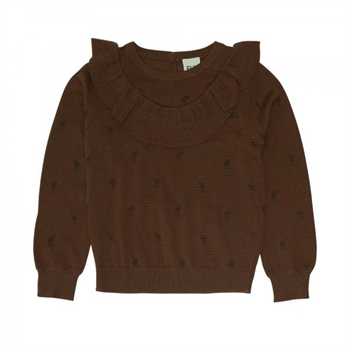 FUB Frill Blouse Umber AW20