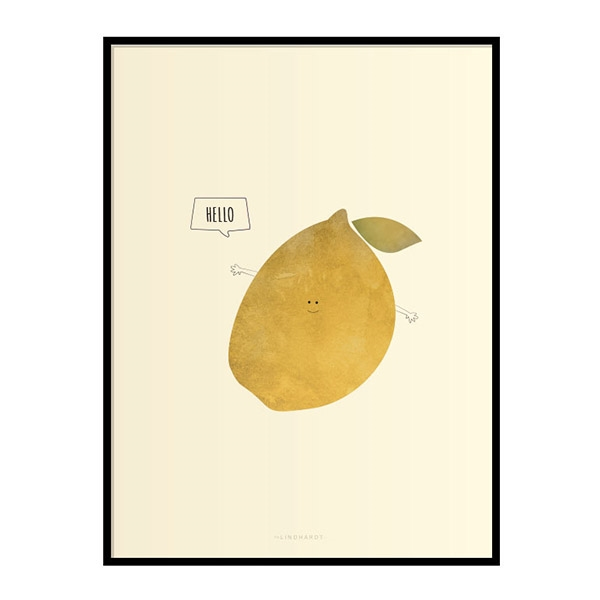 Fru Lindhardt Hello Fruits Plakat - Citron