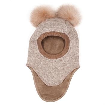 Huttelihut Elefanthue m. Ører i Pels - Camel
