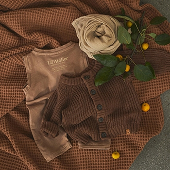Lil' Atelier Overalls - Tobacco Brown