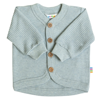 Joha Rille Cardigan Bomuld - Light blue