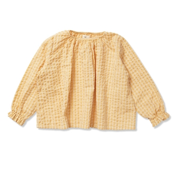 Konges Sløjd Acacia Bluse - Yellow Check
