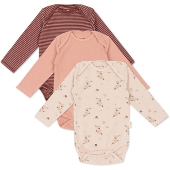 Konges Sløjd 3-Pak Body - Nostalgie/Striped/Blush