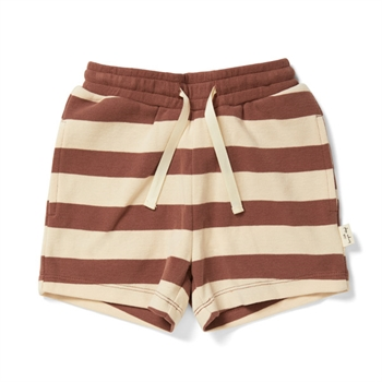 Konges Sløjd Lou Shorts - Striped Fig Brown