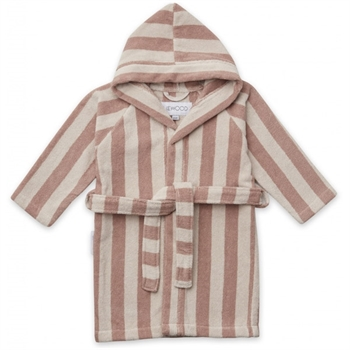 Liewood Badekåbe Stripe - Rose/Sandy