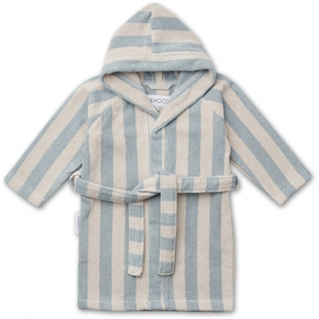 Liewood Badekåbe Stripe - Sea Blue/Sandy