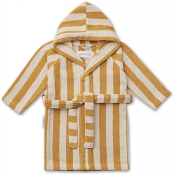 Liewood Badekåbe Stripe - Yellow/Sandy