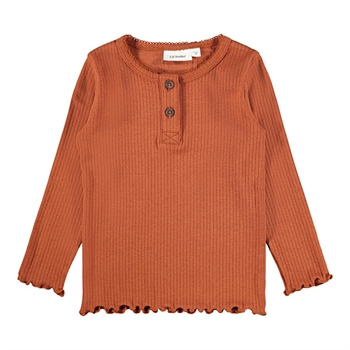 Lil' Atelier Rib Bluse - Ginger Bread