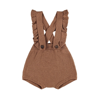 Lil' Atelier Knit Bloomers - Carob Brown