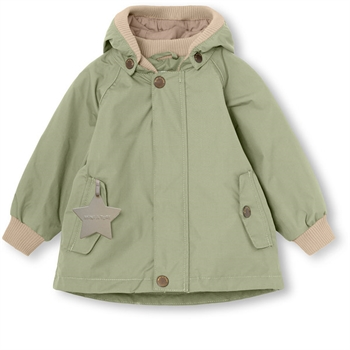 Mini A Ture Wally Jakke m. Fleece - Oil Green