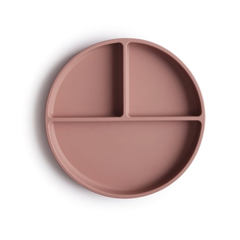 Mushie Silicone Opdelt Tallerken - Cloudy Mauve