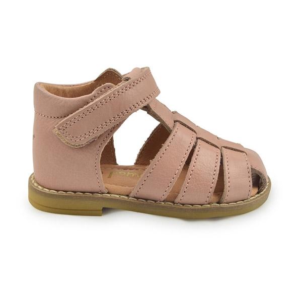 b75fac5e64c Køb flet sandal til børn i mørk rosa fra Pom Pom her.