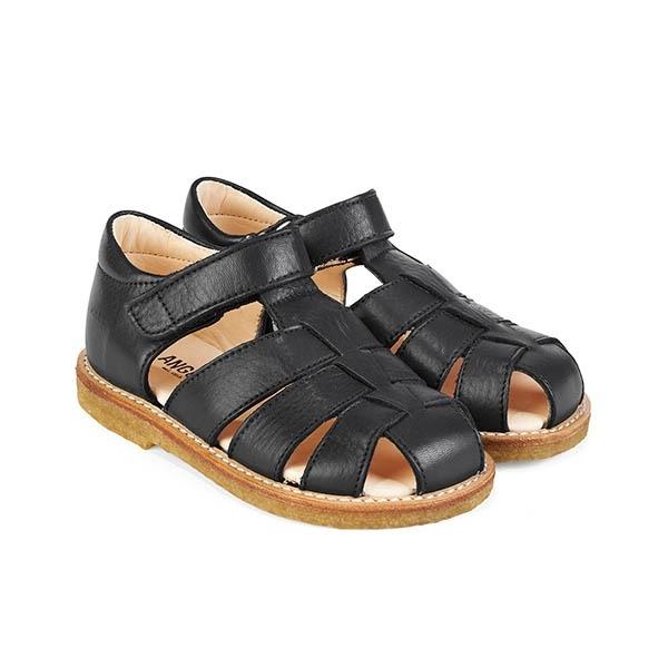 c0e5df5dd315 Køb ANGULUS sandal i sort flet - Parcellet.dk