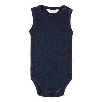 Joha Sleeveless Body Uld/Silke - Navy