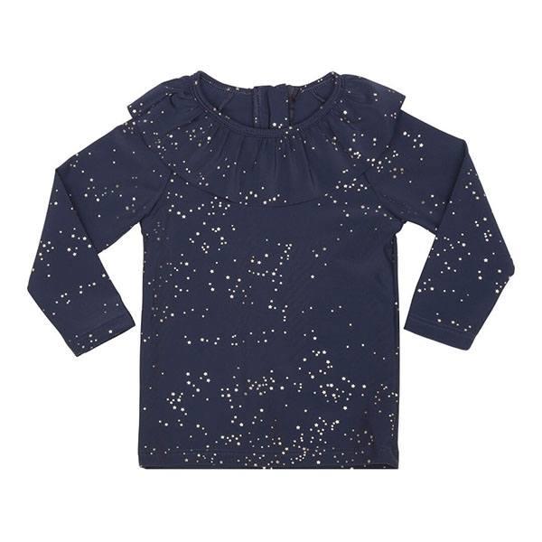 0b1c2a8573a6 Køb Konges Sløjd flæse UV bade bluse i navy etoile her.