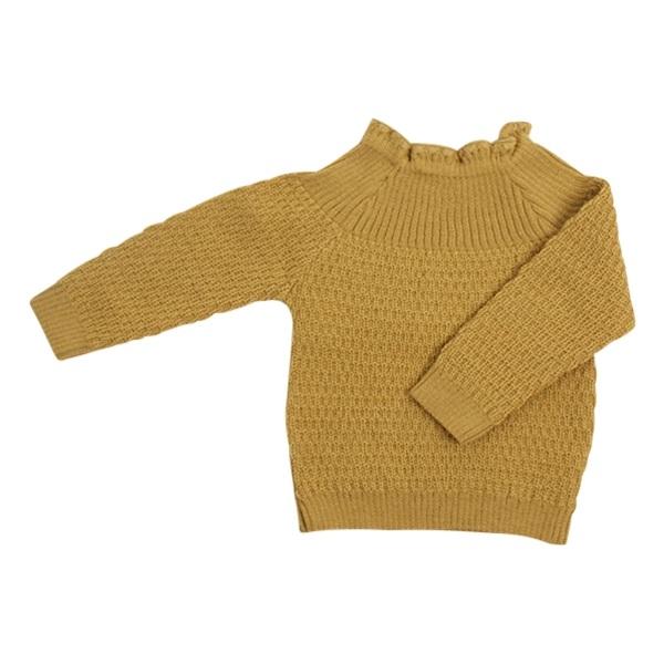 e5b2239032ed Køb sweater i merinould fra Selana i karry gul her.