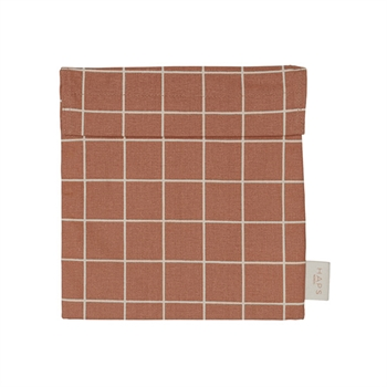 HAPS NORDIC Sandwich Bag - Check Warm Terracotta