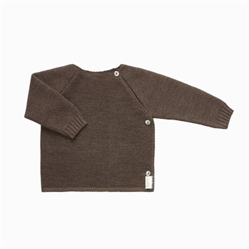 Selana Uld Cardigan - Chocolate