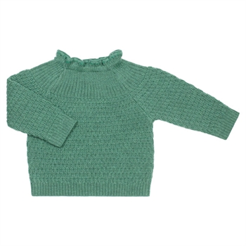 Selana Uld Sweater - Dusty Green