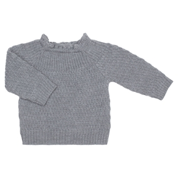 Selana Uld Sweater - Schiefer