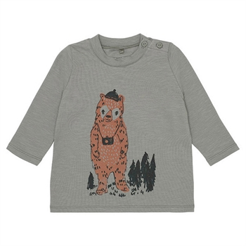 Soft Gallery Adventurebear Baby Blouse Vetiver