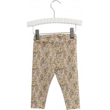 Wheat Fawn Flowers Baby Leggings