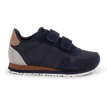 Woden Kids Nor Suede Sneaker - Navy