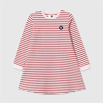 Wood Wood Aya Dress Red/Offwhite