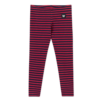 Wood Wood Stribede Leggings Navy/Red