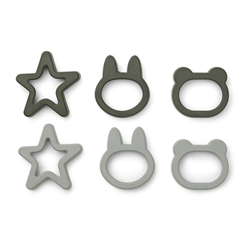 Liewood Cookie Cutter 6-Pak -  Hunter Green Mix
