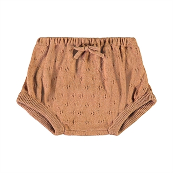 Lil' Atelier Knit Bloomers - Tobacco Brown