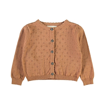 Lil' Atelier Knit Cardigan - Tobacco Brown
