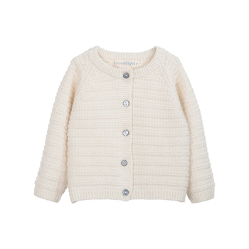 Serendipity Texture Baby Cardigan Offwhite