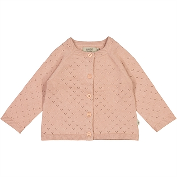 Wheat Misty Rose Knit Baby Cardigan