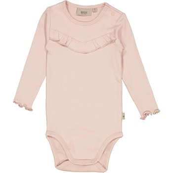 Wheat Powder Rib Ruffle Body