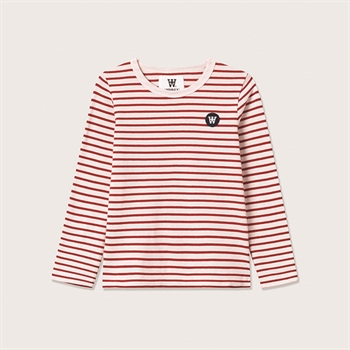 Wood Wood Stribet Bluse Offwhite/Red