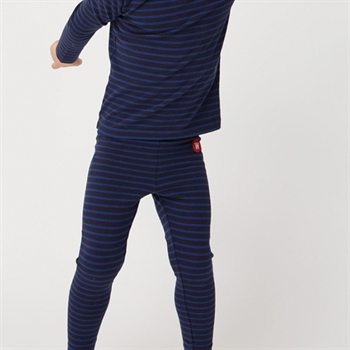 Wood Wood Stribede Leggings Navy/Blue
