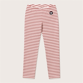 Wood Wood Stribede Leggings Offwhite/Red
