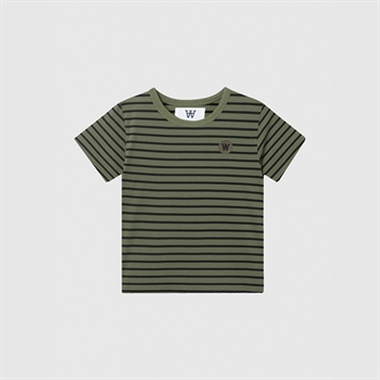 Wood Wood Double A T-shirt Army/Black Stripes