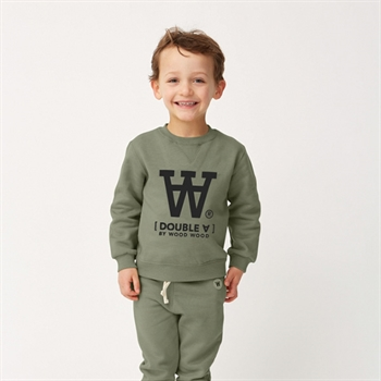 Wood Wood Sweatshirt Army Green