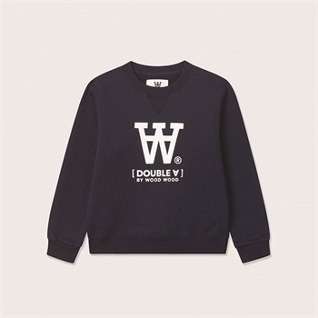 Wood Wood Rod Double A Sweatshirt Navy