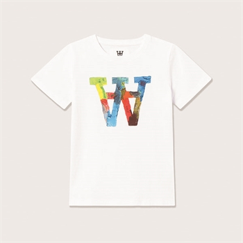 Wood Wood Double A T-shirt Bright White Color
