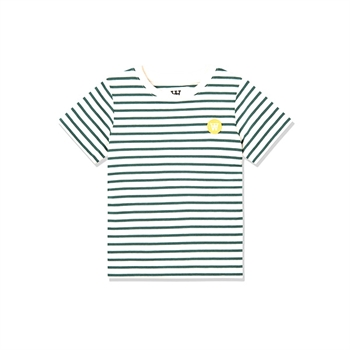 Wood Wood Stribet T-shirt Offwhite/Faded Green